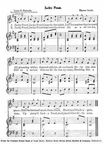 Sheet Music - Jack Frost