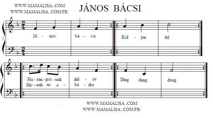 Sheet Music - János bácsi