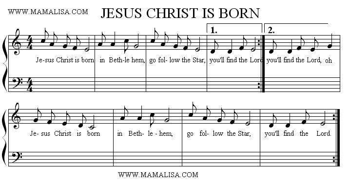 Sheet Music - Christ is Born