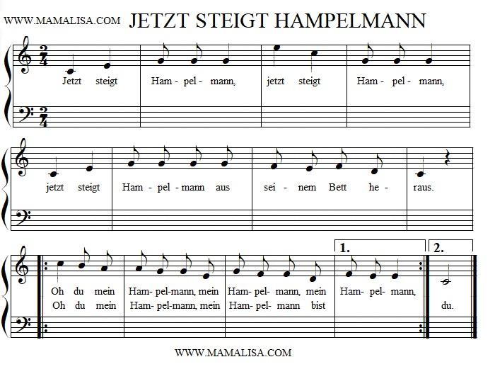 Partitura - Jetzt steigt Hampelmann