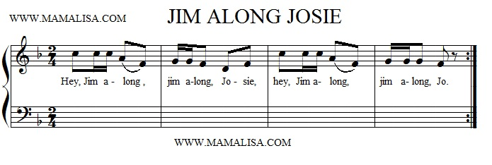 Partitura - Jim Along Josie
