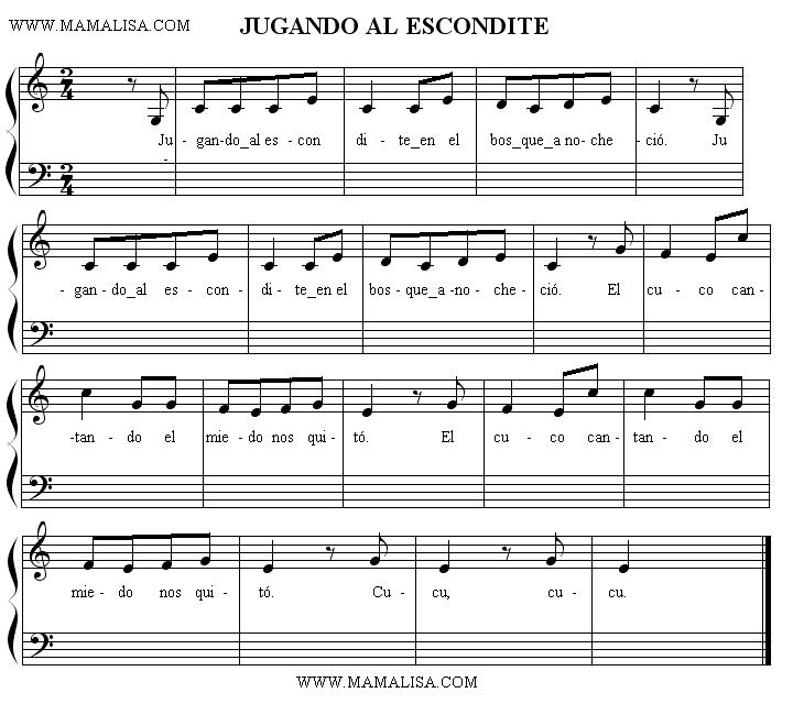 Sheet Music - Jugando al escondite