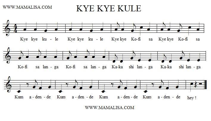 Partitura - Kye Kye Kule