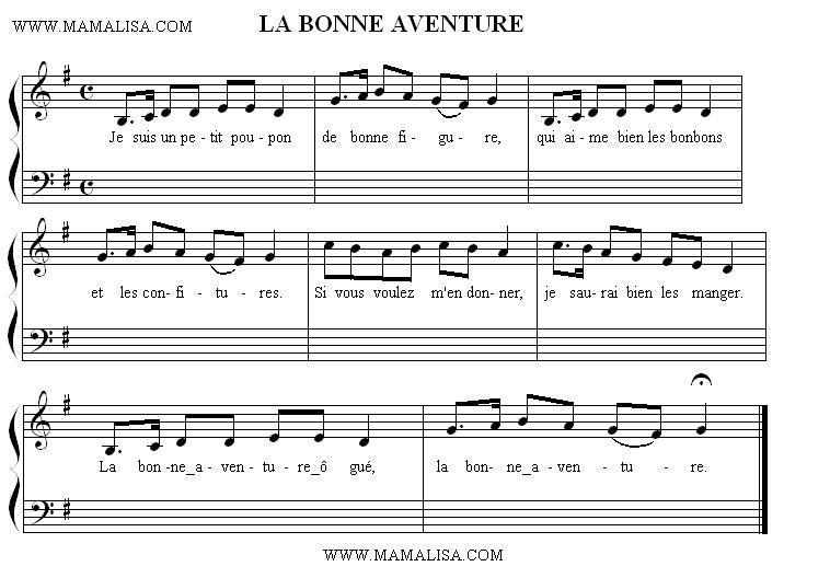 Sheet Music - La bonne aventure ô gué