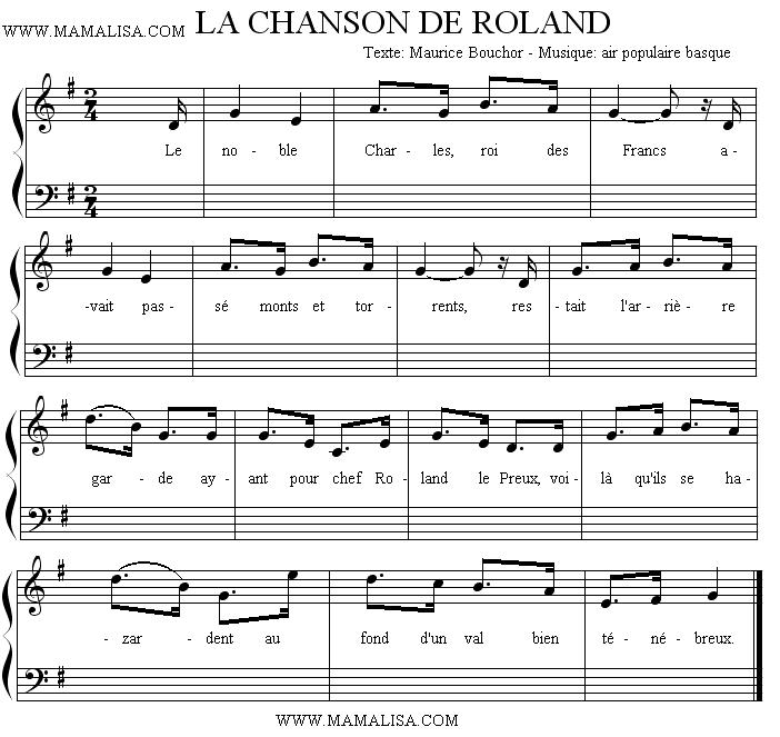 Sheet Music - La chanson de Roland