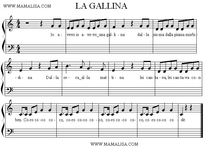 Partition musicale - La gallina
