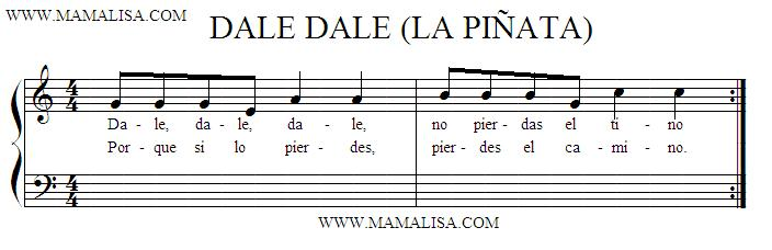 Sheet Music - Cantos para romper la piñata