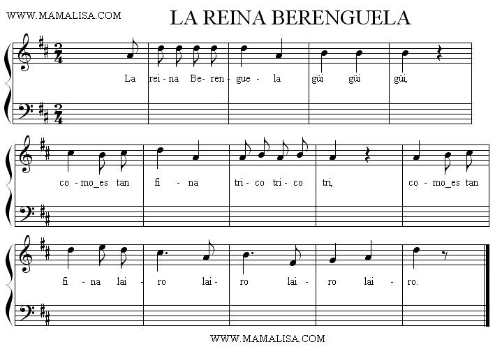 Sheet Music - La reina Berenguela