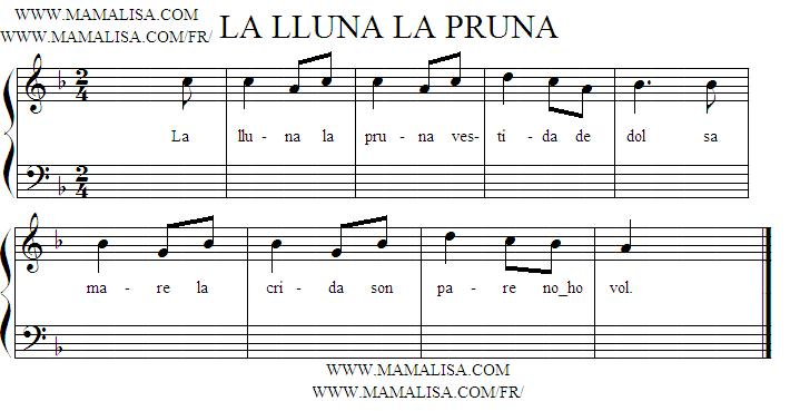 Sheet Music - La lluna, la pruna