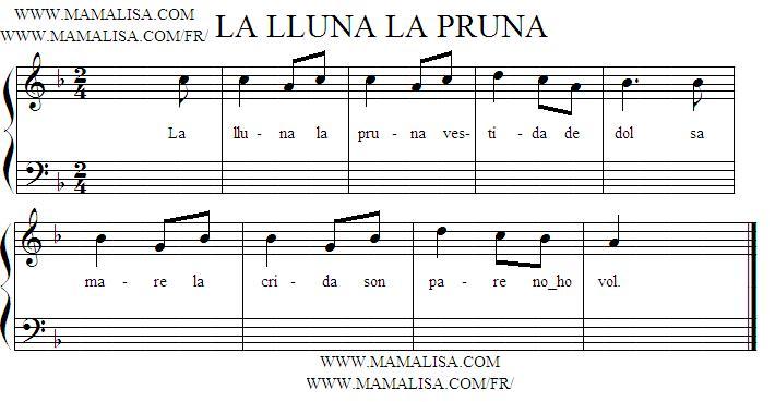 Sheet Music - La lluna, la pruna