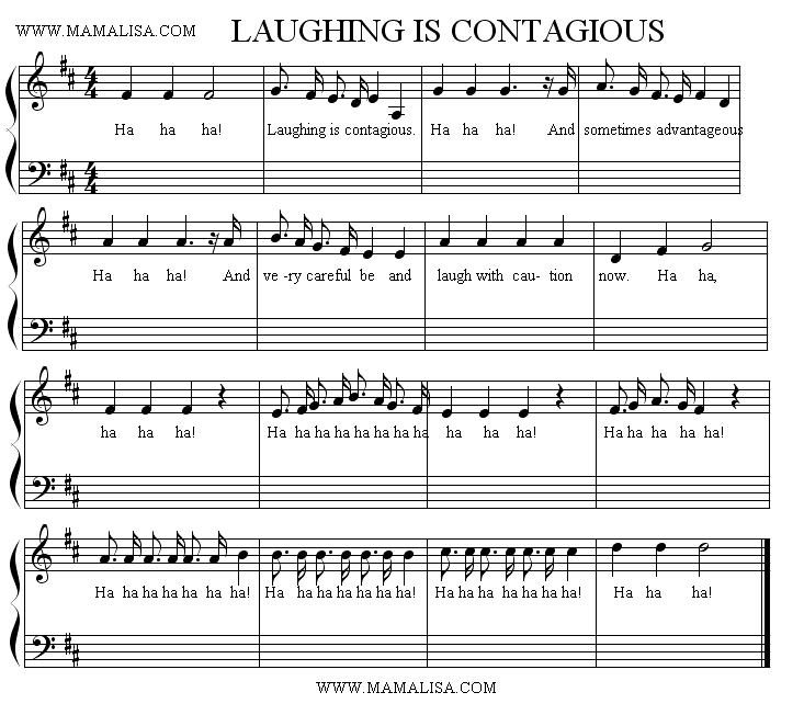 Partition musicale - Laughing is Contagious
