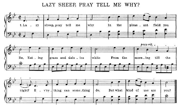 Sheet Music - Lazy Sheep