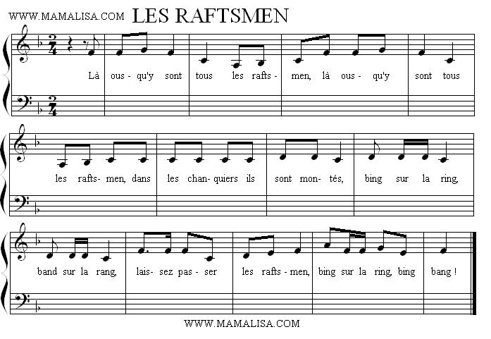 Sheet Music - Les Raftsmen