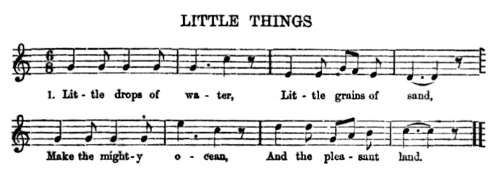 Sheet Music - Little Drops of Water