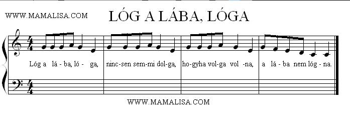 Sheet Music - Lóg a lába, lóga