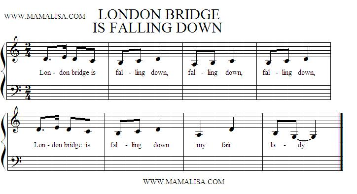 Partitura - London Bridge