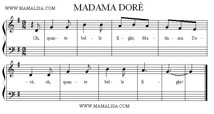 Sheet Music - Madama Dorè