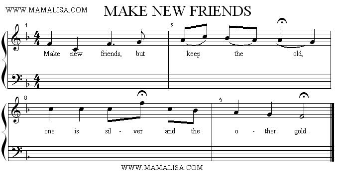 Partition musicale - Make New Friends