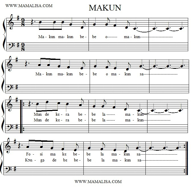 Partition musicale - Makun