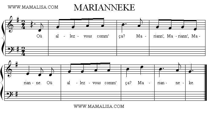 Sheet Music - Marianneke