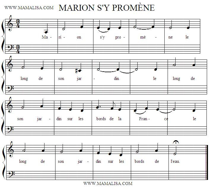 Sheet Music - Marion s'y promène