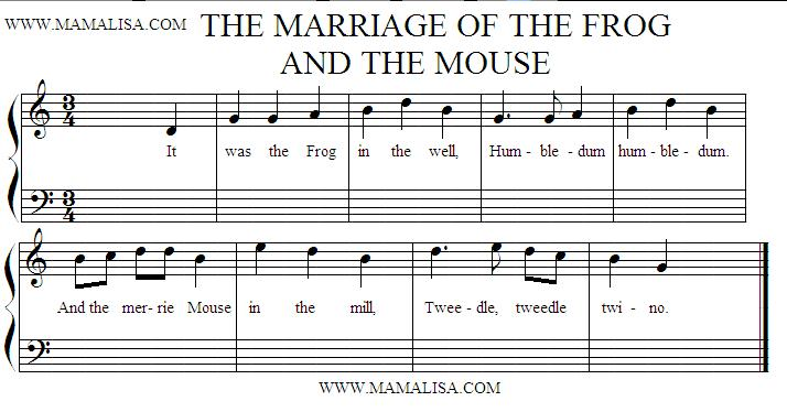 Sheet Music - The Marriage of the Frog and the Mouse