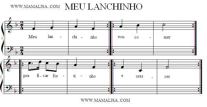 Sheet Music - Meu lanchinho