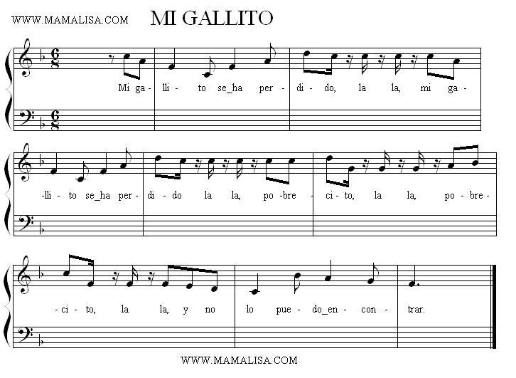 Sheet Music - Mi gallito