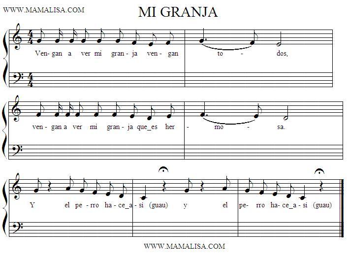 Partition musicale - Mi granja