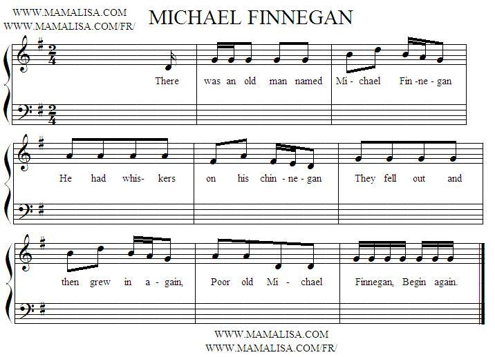 Partition musicale - Michael Finnigan