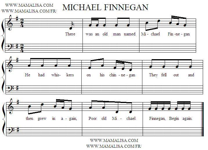 Sheet Music - Michael Finnigan