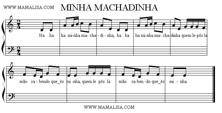 Partition musicale - Minha Machadinha