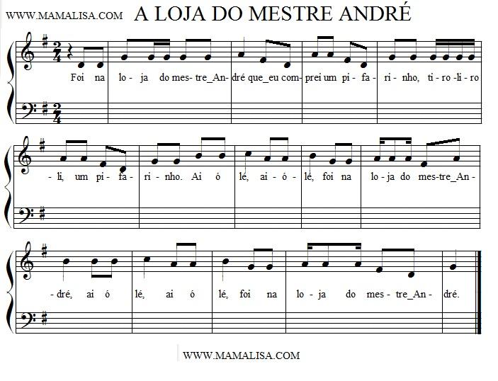 Sheet Music - Na loja do mestre André