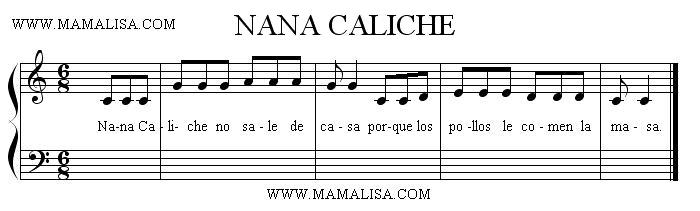 Partition musicale - Nana Caliche