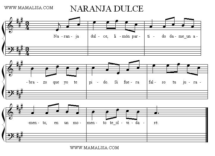 Partition musicale - Naranja dulce