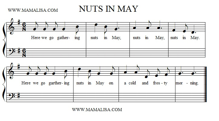 Sheet Music - Nuts in May
