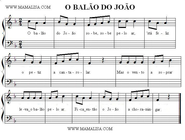 Sheet Music - O Balão do João