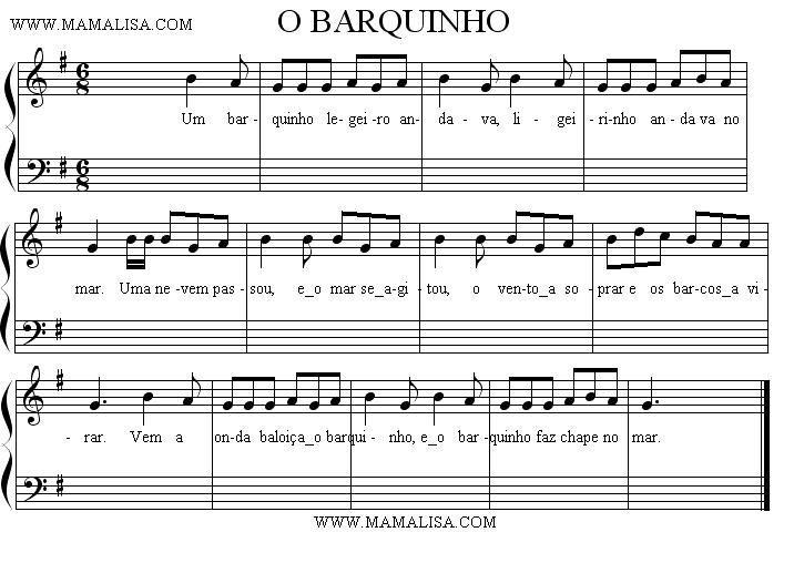 Sheet Music - O barquinho