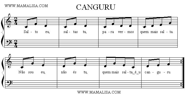 Sheet Music - O canguru