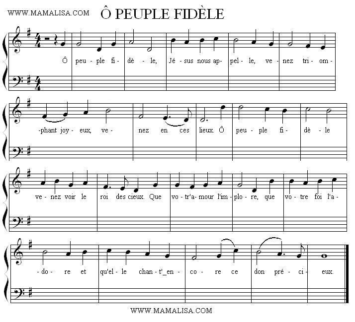Partition musicale - Ô peuple fidèle