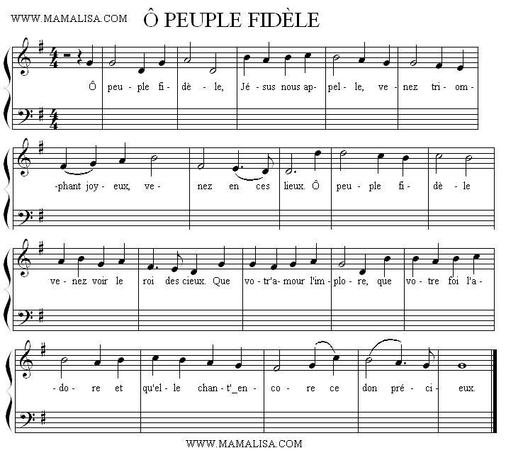 Sheet Music - Ô peuple fidèle
