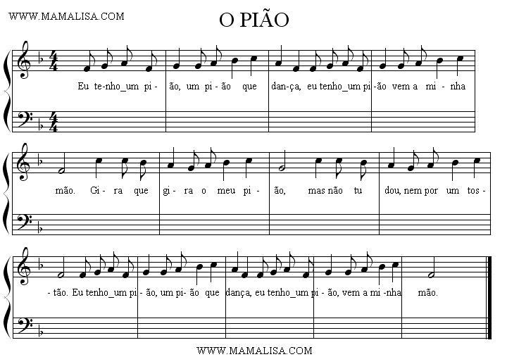 Sheet Music - O pião