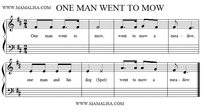 Partition musicale - One Man Went to Mow