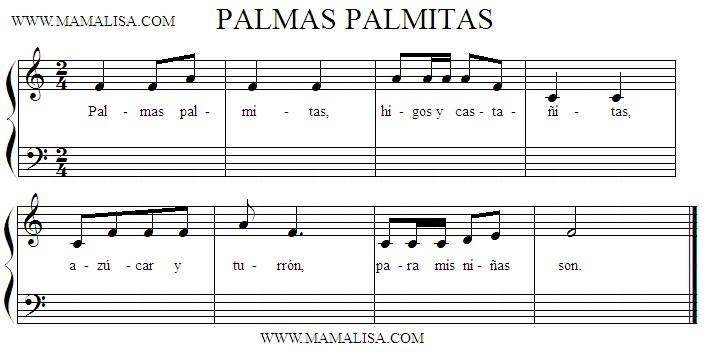 Sheet Music - Palmas palmitas