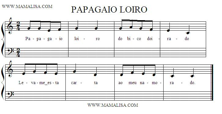 Sheet Music - Papagaio Loiro