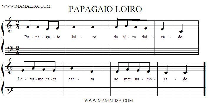 Partition musicale - Papagaio Loiro