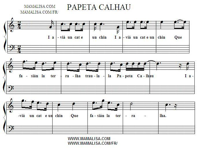 Partition musicale - Papeta Calhau