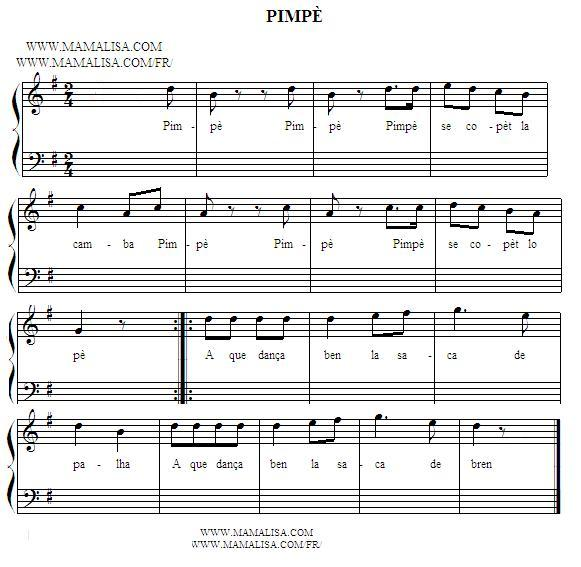 Sheet Music - Pimpè