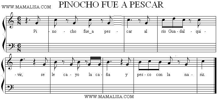 Partition musicale - Pinocho fue a pescar