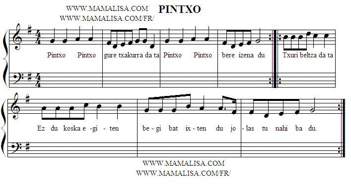 Sheet Music - Pintxo gure txakurra da ta